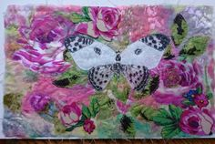 Bath White Butterfly in the Roses by SusannahSindall on Etsy