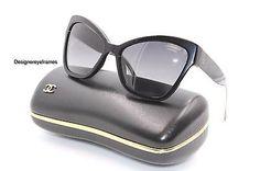 CHANEL 5271 501/S8 Shiny Black/Silver Cateye Polarized Sunglasses NWT AUTH