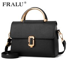 FRALU  Women Bag Pu Leather Tote Brand Name Bag Ladies Handbag Lady Evening Bags Solid Female Messenger Bags Travel Fashion Sac