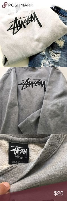 Stussy sweatshirt Very cool, like new STUSSY sweatshirt. Women's size large. This is from Urban Outfitters. Like new with absolutely no issues. Stussy Sweaters Crew & Scoop Necks