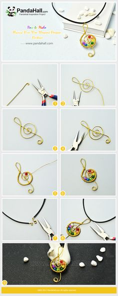 #PandaHall Inspiration Project-----#MusicalNote #Wire Wrapped #Pendant #Necklace #diynecklace #necklacetutorial  #fauxsuede #cord #crackleglassbeads  PandaHall Beads App Privilege: 1% OFF for all products. download here>>>goo.gl/RAEuuP Free Coupons: PHENPIN5 (Save $5 for $70+) PHENPIN7(Save $7 for $100+)