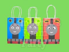 9 Thomas the train and friends party bags by kimberlysfoamparty