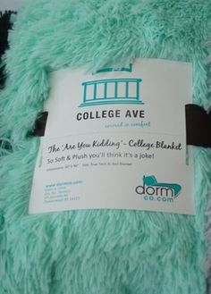 The Are You Kidding? College Blanket - Twin XL (Black) Super Soft Bedding Accessory College Supply Addition