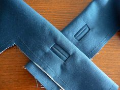 How to sew a bound button hole - for the times when I don't trust my button hole sewing machine capabilities enough to not ruin a garment!