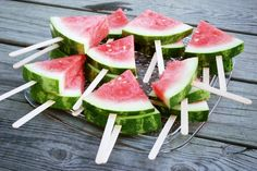 Watermelon on a stick - awesome!