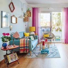 11 Spring Home Decor Ideas With Pastel Color - GODIYGO.COM - pretty pink curtain You are in the right place about home decor Here we offer you the most beautifu - Home Living Room, Living Room Designs, Living Room Decor, Bedroom Decor, Dining Room, Room Kitchen, Diy Kitchen, Kitchen Storage, Food Storage
