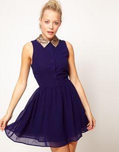 Glamorous Sequin Collar Shirt Dress | Asos