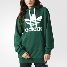 Adidas Outfits : adidas – Sweat-shirt à capuche Trefoil Long Adidas Hoodie, Sweat Adidas, Sweats Outfit, Adidas Outfit, Hoodie Sweatshirts, Sweat Shirt, Athletic Outfits, Long Hoodie, Mode Style