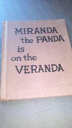 Miranda the Panda is on the Veranda by by TheVintageVagabonds