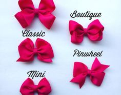 bow collection// hair bows // girls hair accessories -Etsy