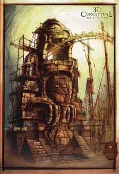 Adventureland Mayan coaster, Disneyland Paris (never built) - Thom Schillinger
