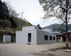 Anese Weekend House Design With Concrete Block As Materials Cinder Architecture