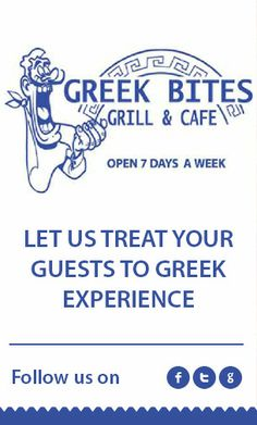 Let us treat your guests to greek experince