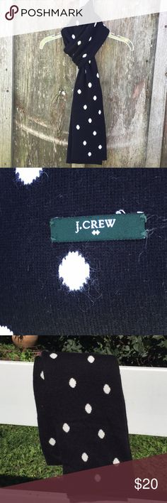 12b15fa639 J.Crew Polka Dot Scarf J.Crew polka dot scarf - black   white