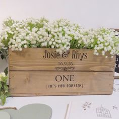 Our small wooden personalised centrepieces work fab as a table number and centrepiece decoration in one!