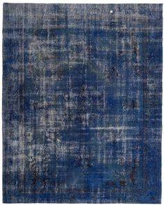 Overdyed vintage rug