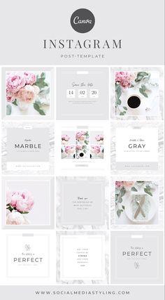 Instagram Feed Ideas Posts, Feeds Instagram, Instagram Grid, Instagram Post Template, Instagram Design, Blog Design Inspiration, Graphic Design Fonts, Social Media Template, Temples