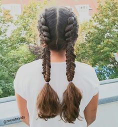 4 strand braid and fishtail pigtails