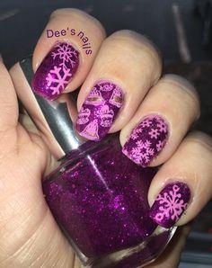 Girly winter nails