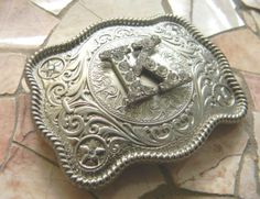 Monogram Letter K Personalized Silver Belt Buckle by StepOriginals