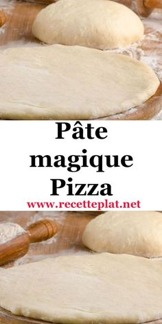This quick pizza dough contains the same ingredients as a standard pizza dough. But, it is prepared in two phases with a rest time of 10 minutes between the two times, hence its name of magic paste. The result is stunning, a light and very good paste. Pizza Buns, Pizza Sandwich, Pizza Napolitaine, Cooking Chef, Batch Cooking, Cooking Recipes, Baguette, Quick Pizza, Ramadan Recipes