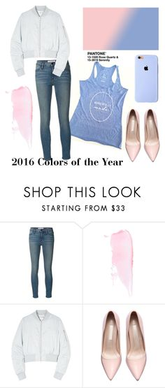 """""""Colors of the Year"""" by karina-mcahren ❤ liked on Polyvore featuring Frame Denim and Won Hundred"""