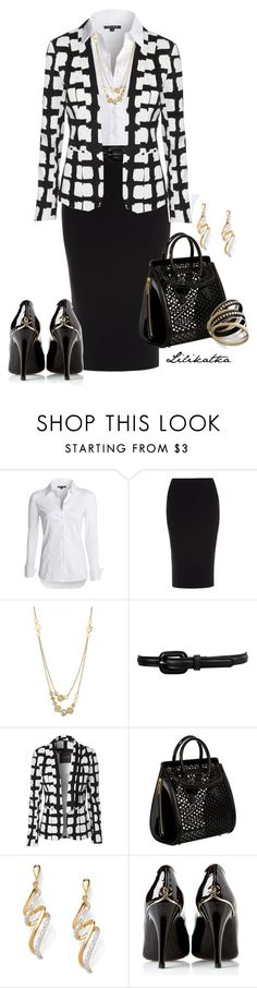 """Pivonka#1168"" by lilikatka ❤ liked on Polyvore featuring NIC+ZOE, Roland Mouret, Lisa Stewart, Forever 21, Jane Norman, Alexander McQueen, Palm Beach Jewelry, Chanel and Bar III"