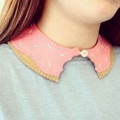 Stitch together a doughnut collar to add some character to your outfits. | 19 DIY Doughnut Projects That Are Cute Enough To Eat