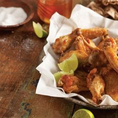 Fried Chicken Wings with Honey-Lime Sauce - Taste of the South
