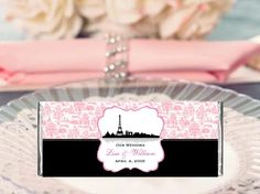 I love chocolates and I love anything French or Paris! What a great combination LMK Gifts personalized PARIS FRECH EIFFEL TOWER large chocolate bar candy wrappers!