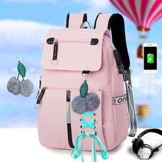 Stylish Backpacks, Cute Backpacks, Girl Backpacks, School Backpacks, Leather Backpacks, Leather Bags, High School Bags, School Bags For Girls, Girls Bags