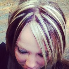 Contrast, dark chocolate brown, blonde
