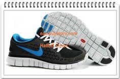 Free Shipping to Buy $68.99 Nike Free Run + Black Blue White #nike #shoes nike shoes