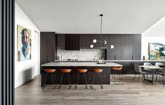 Modern Australian Homestead: Ceres Gable House by Tecture 3 Home Decor Kitchen, Kitchen Interior, Kitchen Dinning Room, Big Kitchen, Green Kitchen, Ikea Kitchen, Apartment Kitchen, Rustic Kitchen, Kitchen Backsplash