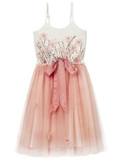 FLY AWAY TUTU DRESS - PEONY