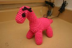 Crochet Dinosaur ~ free pattern