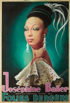 "blackhistoryalbum: "" De Arte Josephine | 1920s-50s [Part II] Vintage french theater posters featuring Josephine Baker. [ Click Image To Enlarge] """