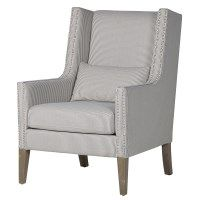Love love love this chair - it is so comfortable!  Suit any room with it's classical blue and white stripe.