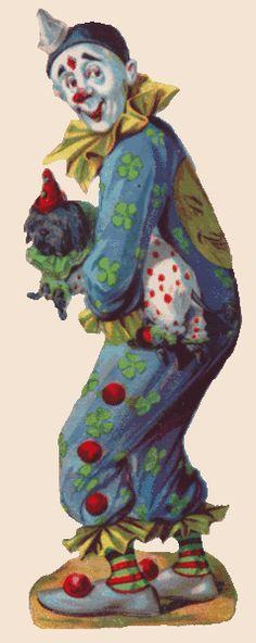victorian clown art