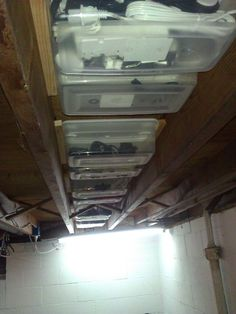 Super Simple Basement Storage : 3 Steps (with Pictures) - Instructables Basement Makeover, Basement Storage, Basement Renovations, Home Renovation, Basement Ideas, Barn Storage, Basement Designs, House Remodeling, Garage Storage