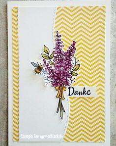stampin lots of lavender spring bee biene lavendel frühling Card karte Danke sale a bration