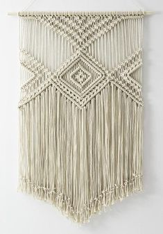 LARGE Macrame wall hanging color of natural cotton handmade natural cotton cord Size: wooden stick: 76 cm length of woven – from top of wood to bottom of fringe: 115 cm We ship WORLDWIDE! Shipping to Europe normally takes working days, to US, Canada – Macrame Wall Hanging Patterns, Large Macrame Wall Hanging, Macrame Patterns, Hanging Wall Art, Macrame Design, Macrame Art, Macrame Projects, Macrame Knots, Modern Macrame