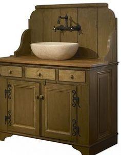 Primitive Bathrooms 15199717467857330 - The Saltbox :: A Sampler of American Folk Art :: Greensboro North Carolina Source by blinkdebbie Primitive Bathrooms, Rustic Bathrooms, Bathroom Sink Vanity, Small Bathroom, Sinks, Bathroom Ideas, Prim Decor, Country Decor, Primitive Decor