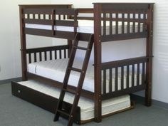 Bunk Bed Twin over Twin Cappuccino with Trundle delivered for only $456