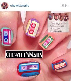 Cassette tape nails