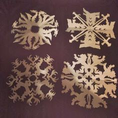 Game of Thrones Snowflakes - Pinterest Wednesday actual patterns