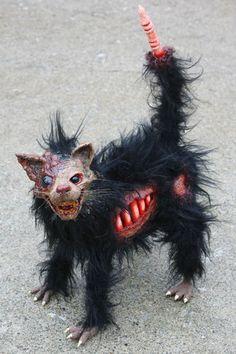 haunted house halloween prop mutant zombie cat walking dead corpse creature | eBay