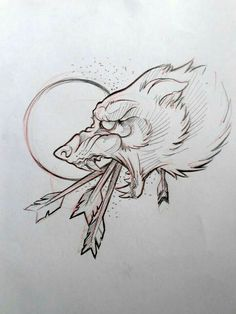 Tattoo Designs Traditional Wolves New Ideas Tattoo Sketches, Tattoo Drawings, Art Sketches, Art Drawings, Wolf Tattoos, Animal Tattoos, Celtic Tattoos, Fenrir Tattoo, Kunst Tattoos