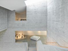 Pool Leber Architekten and Bleckmann Krys Architekten have combined century structures with modern brick volumes to create the Kult museum. Museum Architecture, Architecture Details, Concrete Architecture, Atrium, Concrete Structure, Hotel Interiors, Brick Building, Design Museum, Art Museum