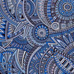 Illustration of Abstract vintage deco vector tribal ethnic background vector art, clipart and stock vectors. Mandala Art Lesson, Mandala Drawing, Watercolor Painting Techniques, Dot Art Painting, Mandala Pattern, Abstract Pattern, Art Fantaisiste, Dorm Art, Black Art